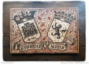 Mural de socarrats heráldico