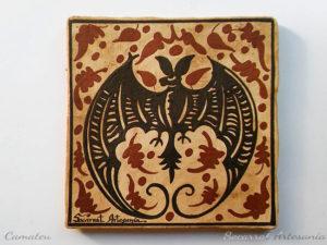 Regalo Socarrat valenciano con la imagen de un murciélago
