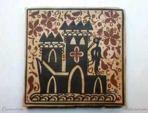 Socarrat de Paterna donde una garza se coloca sobre la torre de un precioso castillo