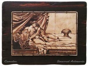Mural de Socarrats con la imagen de una pareja