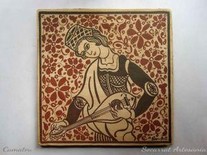 Socarrat Regalo para Músicos con la imagen de un laudista medieval al estilo Socarrat