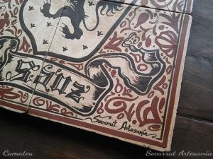 Socarrat regalo Detalle heráldica socarrat mural