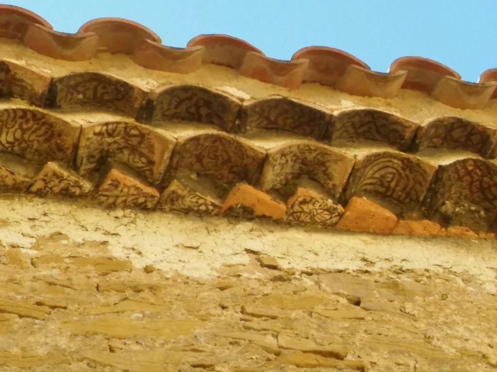Socarrats de alero de la ermita de la Pobla del Bellestar. Castellón