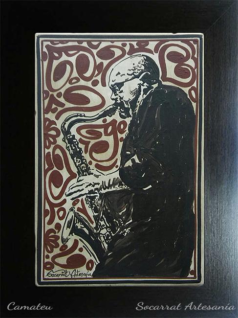 socarrat personalizado musico saxofonista
