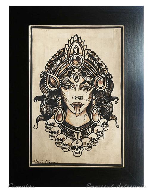 Diosa Kali cuadro cerámica