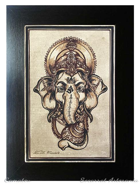 Ganesha cuadro socarrat cerámica
