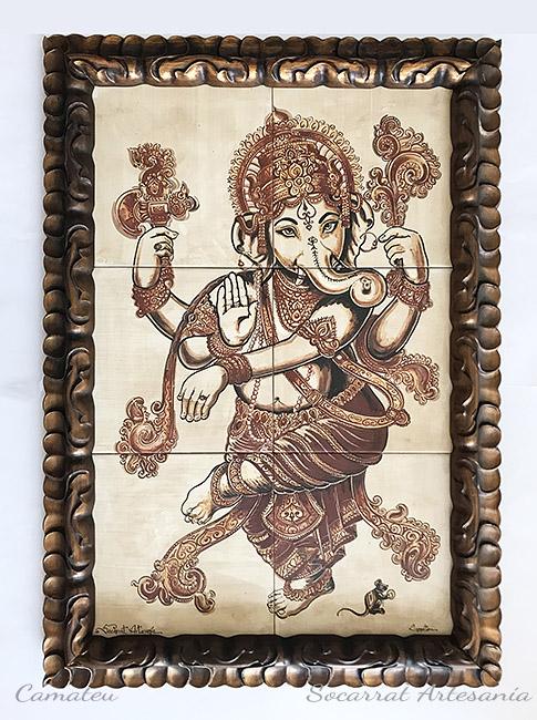 Ganesha mural cerámica