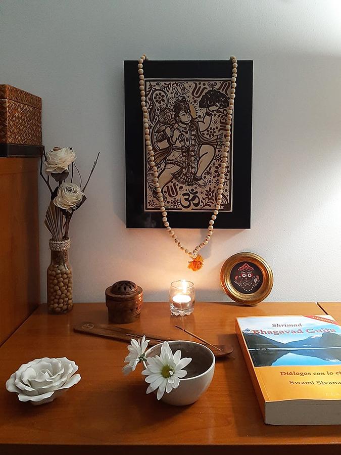 Hanuman altar