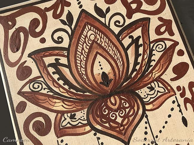 flor de loto socarrat detalle