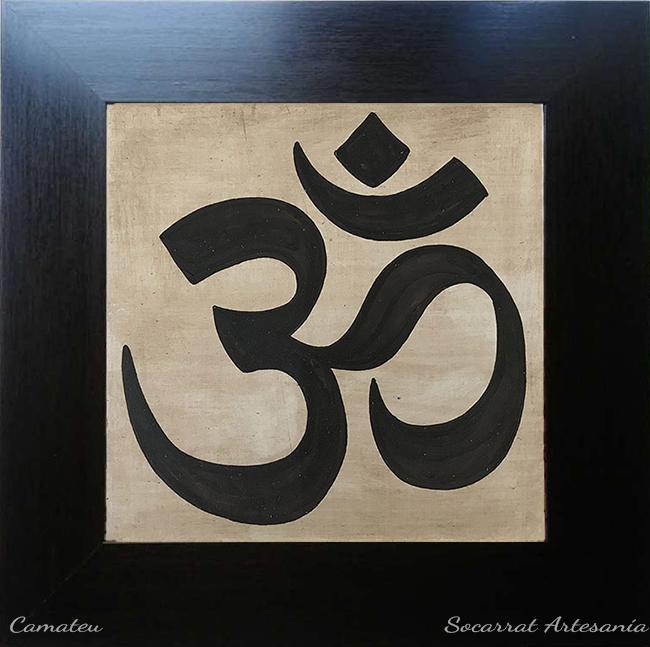 Om yoga cuadro cerámica