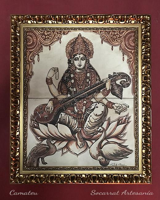 Saraswati tocando la visna