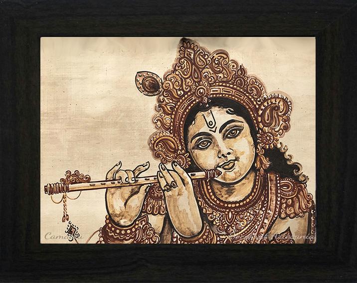 krishna como pastor de vacas tocando la flauta