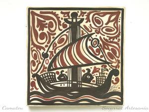 Socarrat Artesanía Barco con marineros navegando